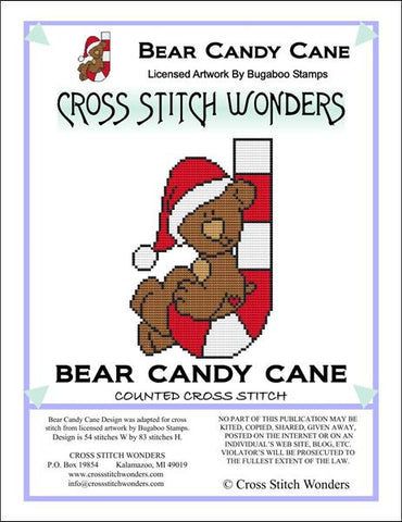 Cross Stitch Wonders Carolyn Manning Bear Candy Cane Critter Cross stitch pattern