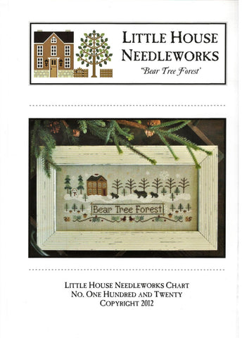 Little House Needleworks Bear Tree Forest LHN120 cross stitch pattern