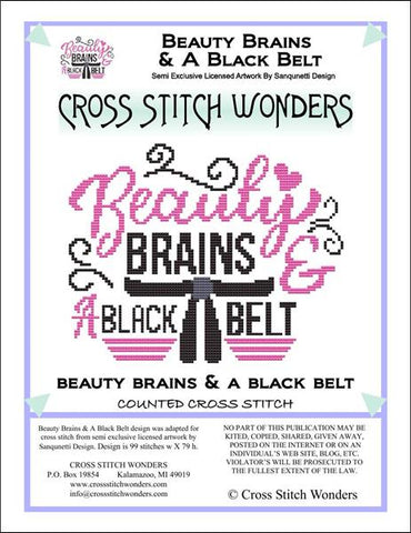 Cross Stitch Wonders Marcia Manning Beauty Brains and A Black Belt Cross stitch pattern