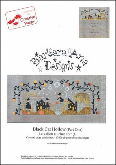 Barbara Ana Black Cat Hollow halloween cross stitch pattern