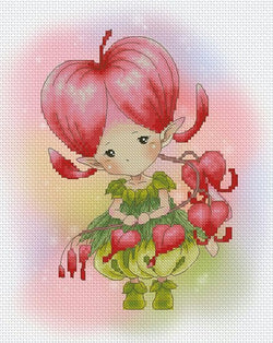 Lena Lawson Bleeding Heart Sprite cross stitch pattern
