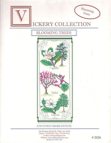 Vickery Collection Blooming Trees cross stitch pattern
