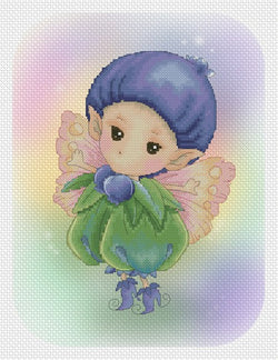 Lena Lawson Blueberry Sprite cross stitch pattern