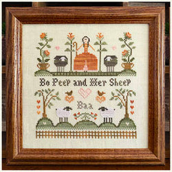 Little House Needlework Bo Peep and Her Sheep cross stitch pattern