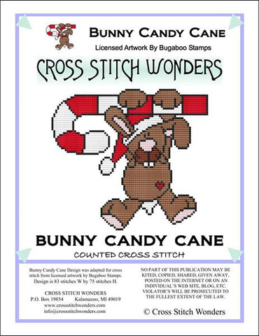 Cross Stitch Wonders Carolyn Manning Bunny Candy Cane Critter Christmas Cross stitch pattern