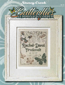 Stoney Creek Butterflies Wedding Sampler LFT379 wedding cross stitch pattern