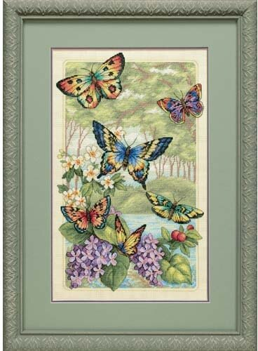 Dimensions Butterfly Foest cross stitch kit