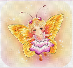 lena Lawson Butterfly Yellow Sprite cross stitch pattern