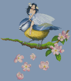 Lena Lawson Chickadee Fairy cross stitch pattern