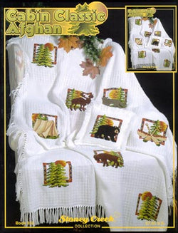 Stoney Creek Cabin Classic Afghan BK335 cross stitch booklet