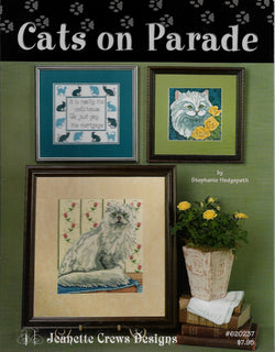Jeanette Crews Cats on Parade cross stitch pattern