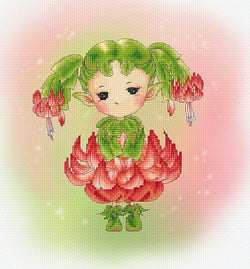 lena lawson Christmas Cactus Sprite cross stitch pattern