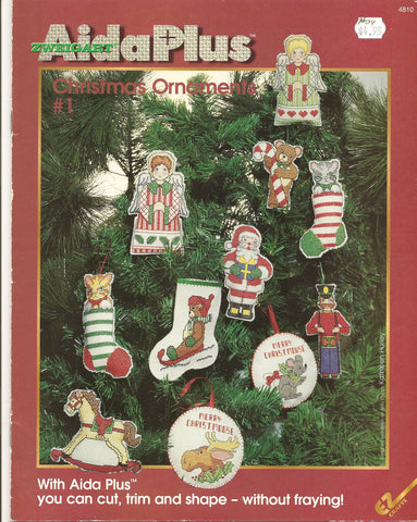 Zweigart Aida Plus Christmas Ornaments #1 cross stitch patterns