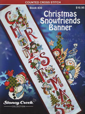 Stoney Creek Christmas Snowfriends Banner BK430 cross stitch booklet