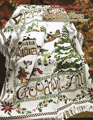 Stoney Creek Christmas Village Collectors' Series Afghan BK517 cross stitch booklet