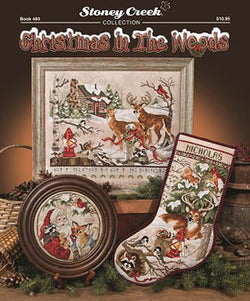 Stoney Creek Christmas in the woods BK480 cross stitch booklet