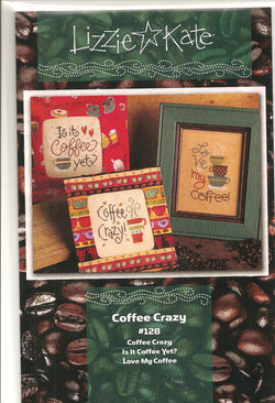 Lizzie Kate Coffee Crazy LK128 cross stitch pattern
