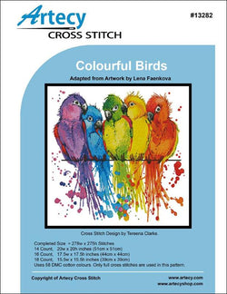 Artecy Colorful Birds cross stitch pattern