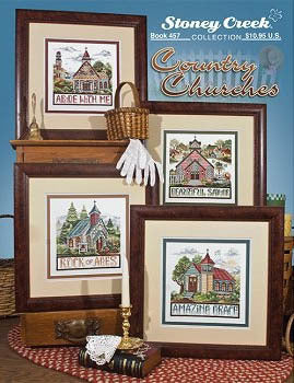 Stoney Creek Country Churches BK457 cross stitch booklet