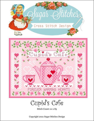 Sugar Stitchers Cupid's Cafe cross stitch pattern
