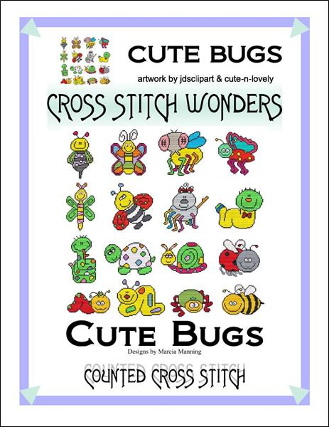 Cross Stitch Wonders Marcia Manning Cute Bugs Cross stitch pattern
