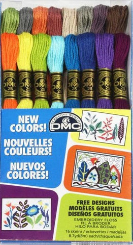 DMC item 117F25CM16 cross stitch floss assortment