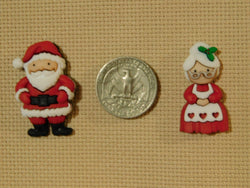 Mr. & Mrs. Santa Claus Christmas needle minders