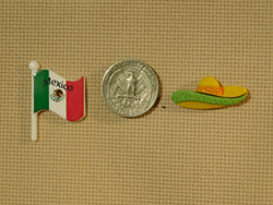 Mexican Flag and Sombrero needle minders