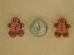 Gingerbread Cookie Boy and Girl Christmas needle minders