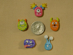 Silly Monster Faces needle minders
