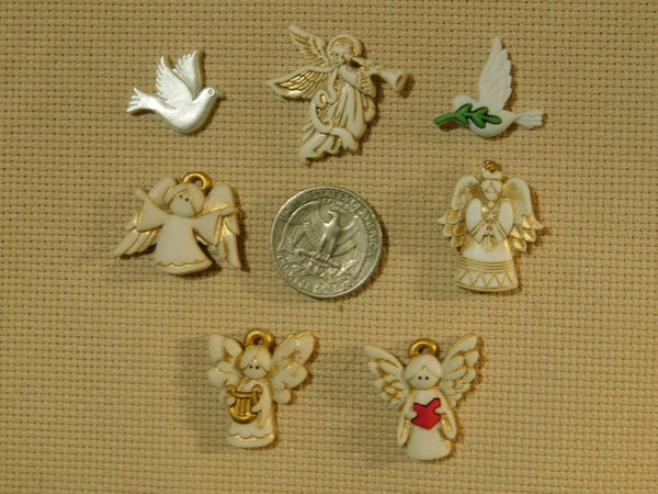 Angels and Doves Christmas needle minders