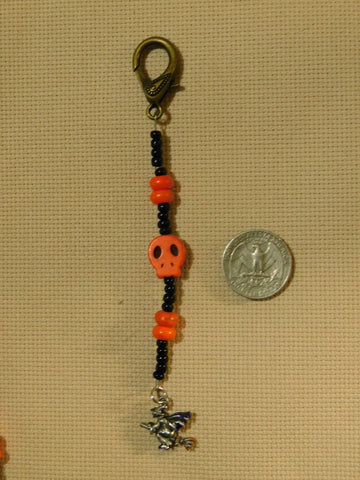 Witch on Broom scissor fob