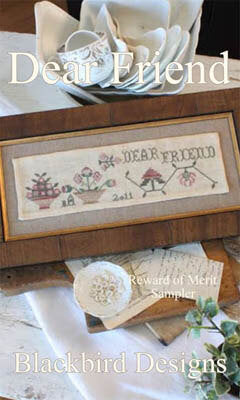 Blackbird Designs Dear Friend cross stitch pattern