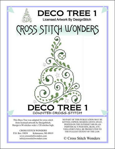 Cross Stitch Wonders Marcia Manning Deco Tree 1 Cross stitch pattern