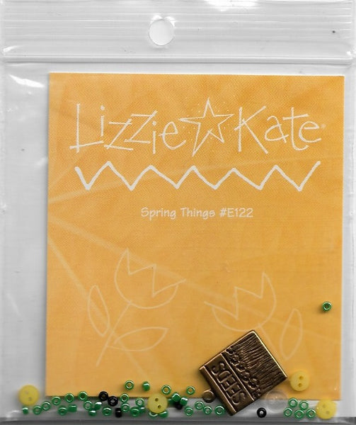 Lizzie Kate Spring Things embellishment Pack #E122 cross stitch