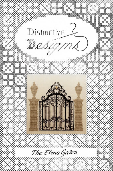 Distinctive Designs The Elms Gates cross stitch pattern