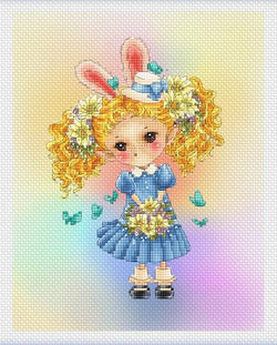 Lena lawson Easter Elf Sprite cross stitch pattern