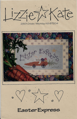 Lizzie Kate Easter Express, LK027 cross stitch pattern