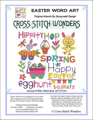 Cross Stitch Wonders Carolyn Manning Easter Word Art Cross stitch pattern