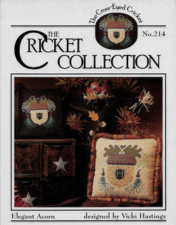 Cricket Collection Elegant Acorns cross stitch pattern