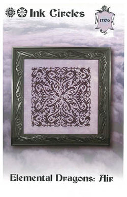 Ink Circles Elemental Dragons Air cross stitch pattern