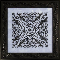 Ink Circles Elemental Dragons Water cross stitch pattern