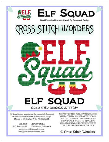 Cross Stitch Wonders Carolyn Manning Elf Squad Christmas Cross stitch pattern