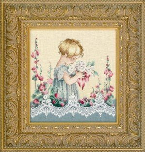 Lavender & Lace Emma's Garden cross stitch pattern