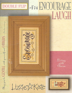 Lizzie Kate Encourage Laugh F74 cross stitch pattern