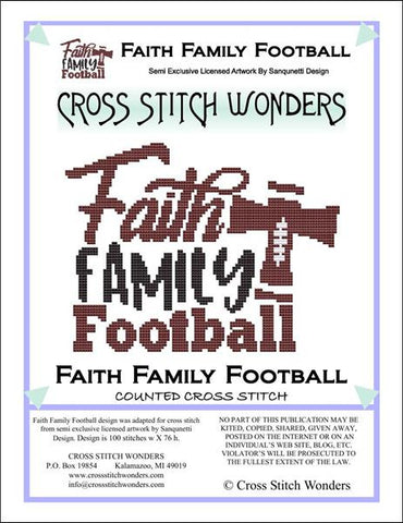 Cross Stitch Wonders Carolyn Manning Faith Family Football Cross stitch pattern
