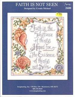 Imaginating Faith is not seen 2600 cross stitch pattern