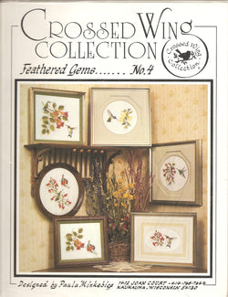 Crossed Wing Collection Feathered Gems no 4 cross stitch pattern