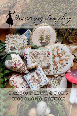 heartstring Samplery Festive Little Fobs 7 - Woodland Edition cross stitch pattern