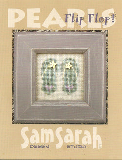 Sam Sarah Pearls Flip Flop P-015 cross stitch pattern